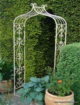 Metal Garden Rose Arch - Old Rectory Arch, Antique Cream