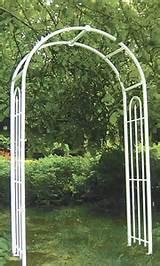Panacea Arch Topped Garden Arbor, White