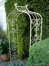 metal garden rose arch old rectory arch antique cream