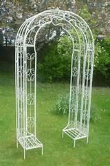 details about ornate metal garden arch cream height 220cm