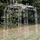 Wrought Iron FleurDeLys Arch Tunnel (Cream)