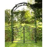 Tierra-Derco Bacchus 7.75-ft. Iron Arch Arbor with Gate