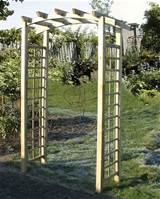 arbours garden arches tuin curved trellis arch
