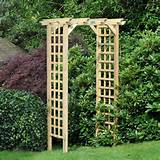 coppice wooden trellis garden arch
