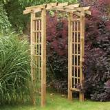 home quality wooden garden orchard arch with trellis side panels