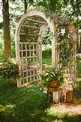 garden trellis wedding arch