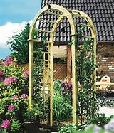 The Katja Rose Trellis Wooden Garden Arch