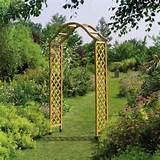 arches obelisks pergolas elegance wooden garden arch with trellis