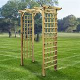 wooden pergola trellis garden arch