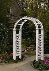 decorative nantucket legacy vinyl garden patio arch trellis