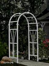 Decorative Vinyl Dublin Garden Patio Arch Trellis w Warranty