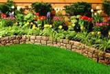 decorative stone garden edging