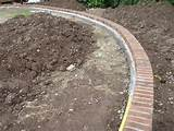 construction of brick edge to level lawn