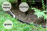 how to install landscape bed black edging
