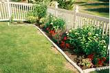 our garden with plastic edging