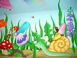 fairy garden snail with bluebells