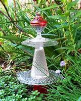 garden art red glass tower