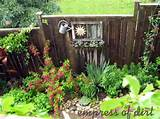 This was the side garden at my old house. I created the focal point on ...