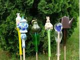 diy garden art on a stick