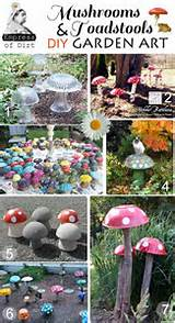 mushrooms toadstools garden art diy