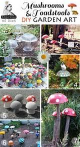 Mushrooms & Toadstools Garden Art DIY