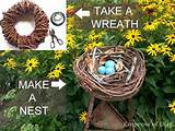 diy garden art bird nest