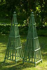 garden obelisk art sculpture wooden stained hardwood by currentadz