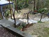 metal art garden handrail