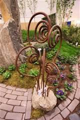 wrought iron home decor garden art metal sculpture unique pictures