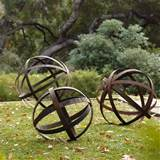 Iron Sphere - Rusted in Garden Ornaments contemporary outdoor decor