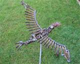 flying bird scrap metal art garden sculpture design