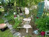 Lots of whimsical garden art