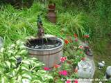 garden decoration ideas whimsical garden decor of half oak barrell