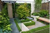 luxury small modern garden design with raised beds and pathways modern