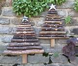 rustic primitive outdoor wood christmas tree by souvenirfarm