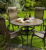 Hartman Palermo 1.2m Round Milan Set - Metal Garden Furniture