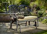 4ft garden benches hartman amalfi glider metal garden furniture