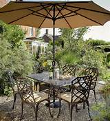 hartman rocco 1 6m rectangular set in bronze metal garden furniture