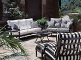 Wrought aluminum or wrought iron for outdoor furniture