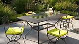 Elegant Wrought Iron Outdoor Furniture