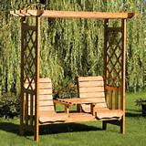 wooden furniture is usually used as the outdoor garden furniture