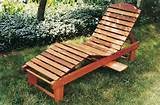wooden lounge chair garden furniture