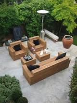 outdoor wood furniture ideas