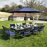 MADISON 260x120cm 10 Seater metal garden furniture Set