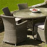 sahara woven rattan garden furniture set by bramblecrest 6 seat