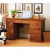 better homes and gardens desk oak