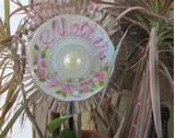 sun catcher garden fl ower plate unique garden decor made with vintage