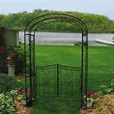 austram royal garden 7 5 ft iron arch arbor with gate