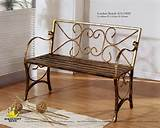 wrought iron bench gs1000