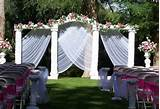 outdoor wedding decoration for spring